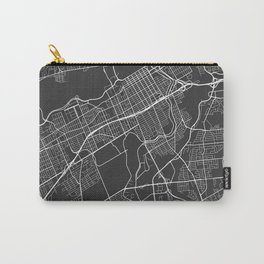 Ottawa Map, Canada - Gray Carry-All Pouch