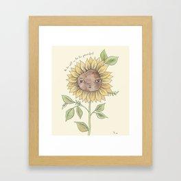 To be soft... Framed Art Print