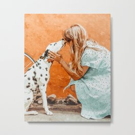 Pet Bound #pets #animals #animalslover #painting Metal Print