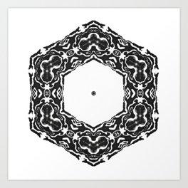 black snowflake Art Print