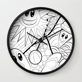 HOT Summer Emojis Wall Clock