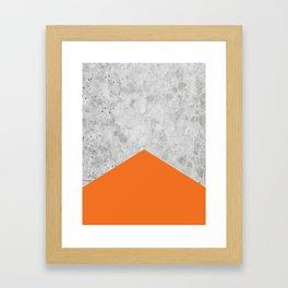 Concrete Arrow - Orange #118 Framed Art Print