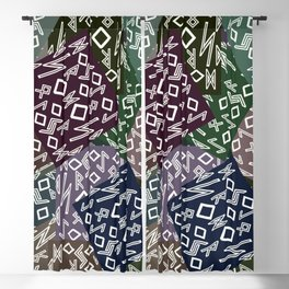 Runic patchwork II Blackout Curtain