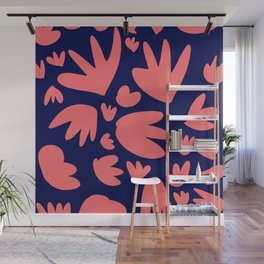 Living Coral Color of the Year Pattern Abstract Art Decorative Wall Mural