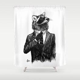 Dapper Raccoon Shower Curtain