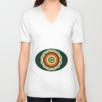 cake V-neck T-shirts featuring Cake by Ordiraptus