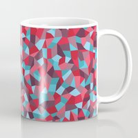stained glass Mugs featuring Stained Glass by mthw design