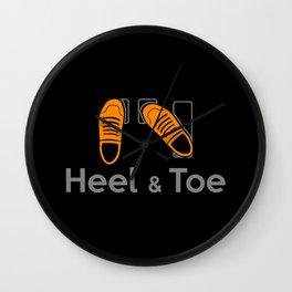 Heel & Toe Wall Clock