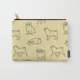 Pug Pattern Carry-All Pouch