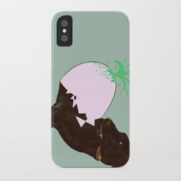 To spring a leak, is as dog is to egg. iPhone Case