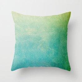 Jade Ombre Throw Pillow