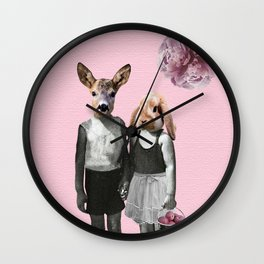 animal love Wall Clock