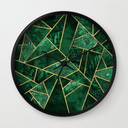Deep Emerald Wall Clock