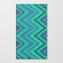 Chevron Blue Canvas Print