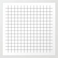 grid Art Prints featuring grid by 550am