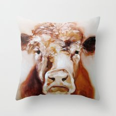 Mister Cow Throw Pillow