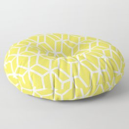 Abstract Geometric Shape Pattern 16 V1 Pantone 2021 Color Of The Year Illuminating 13-0647 Floor Pillow