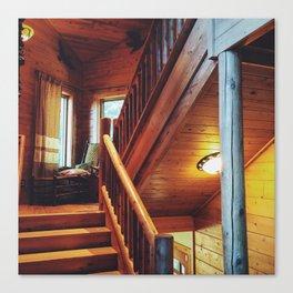 Cabin Staircase Canvas Print