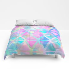 Pink pastel aztec pattern Comforters