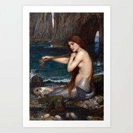 John William Waterhouse - A Mermaid Art Print