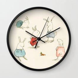 If Rabbits Wore Pants Wall Clock