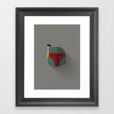 Boba Fett Minimalist Poster Framed Art Print