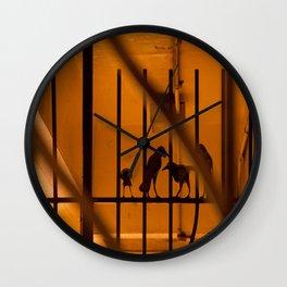 Family crow Wall Clock