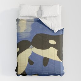 Mother and Child Whales Comforters