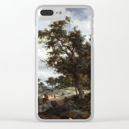 Meindert Hobbema and Abraham Storck A Wooded Landscape with Travelers on a Path through a Hamlet Clear iPhone Case