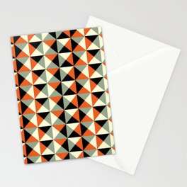 Mid-century pattern 138 (orange triangles) Stationery Cards