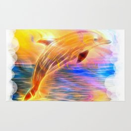 Sunset Dolphin Rug