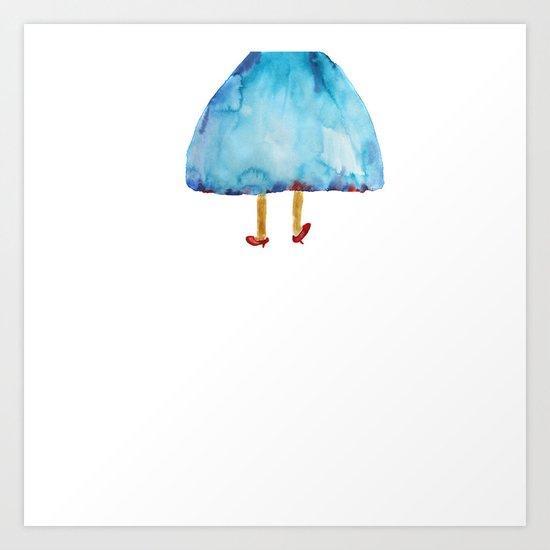 'I am leaving!' Art Print