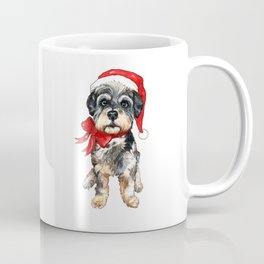 Fluffy Christmas Dog Coffee Mug