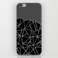 iPhone & iPod Skins featuring Ab Lines 45 Black by Project M