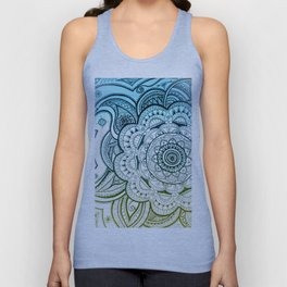 Mandala Blue Yellow Unisex Tank Top