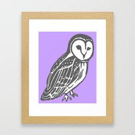 Grey Barn Owl Art Framed Art Print