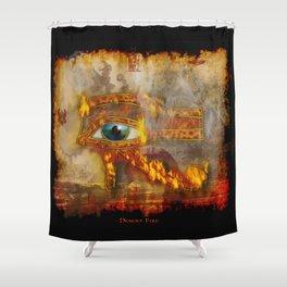 Desert Fire - Eye of Horus Shower Curtain