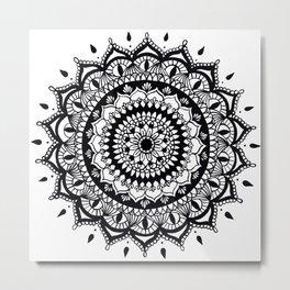 Mandala (black) Metal Print