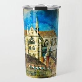 Auxerre France Travel Mug