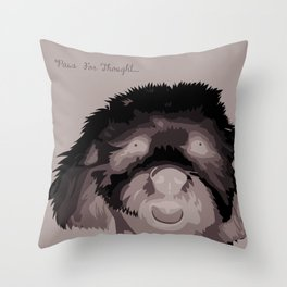 Travis The Schnoodle Throw Pillow