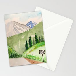 Million Dollar Highway - Ouray to Silverton CO Stationery Cards