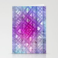 grid Stationery Cards featuring Grid by Christine baessler
