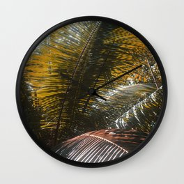 Into the Seychellian leaves Wall Clock