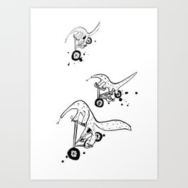 Anteater cyclists Art Print