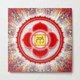 Muladhara Chakra - Root Chakra - Series VI Metal Print