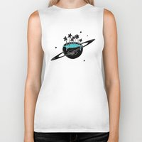 saturn Biker Tanks featuring Saturn by shoooes