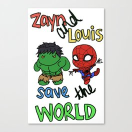 Zouis Saves the World Canvas Print