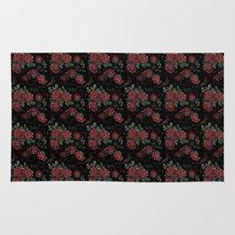 Project 413 | Roses on Black Velvet Rug