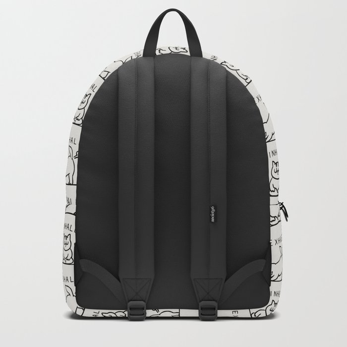 Inhale Exhale Cat Backpack