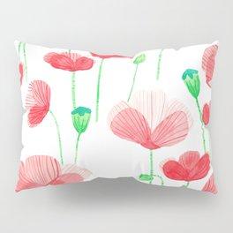 Poppyfield pattern Pillow Sham